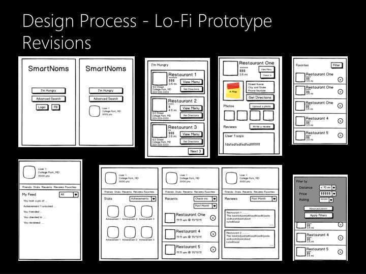 Design Process - Lo-Fi