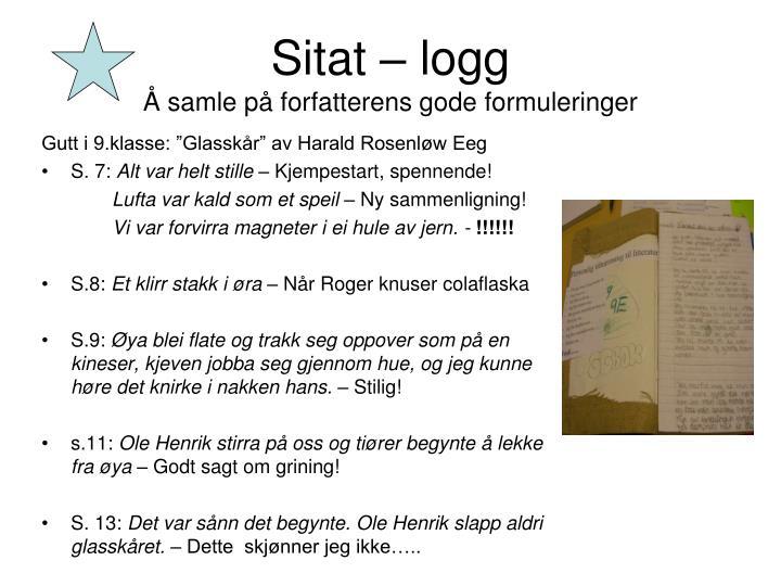 Sitat – logg