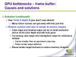 gpu bottlenecks frame buffer causes and solutions1