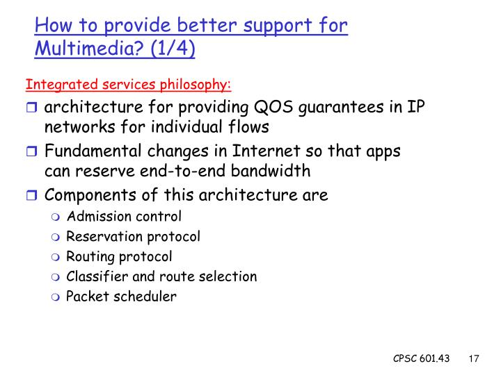 Integrated services philosophy: