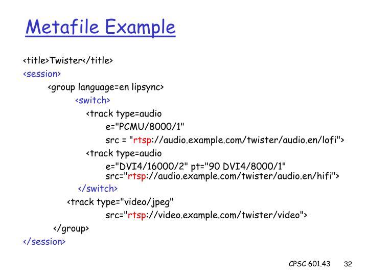 Metafile Example
