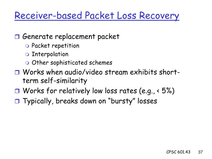 Receiver-based Packet Loss Recovery