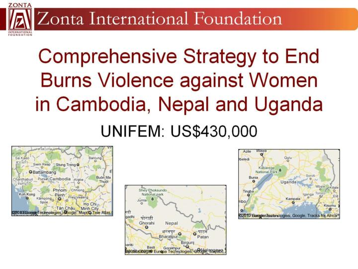 Comprehensive Strategy to End Burns Violence against Women in Cambodia, Nepal and Uganda