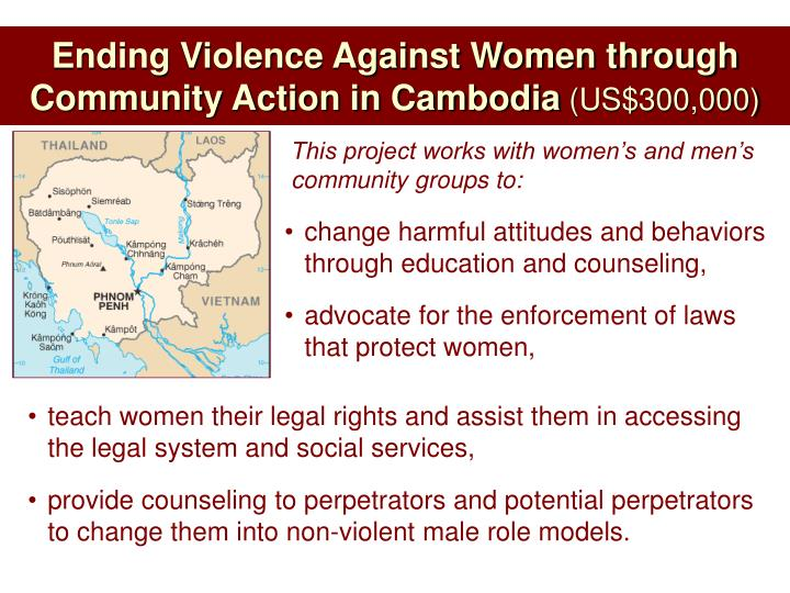 Ending Violence Against Women through Community Action in Cambodia
