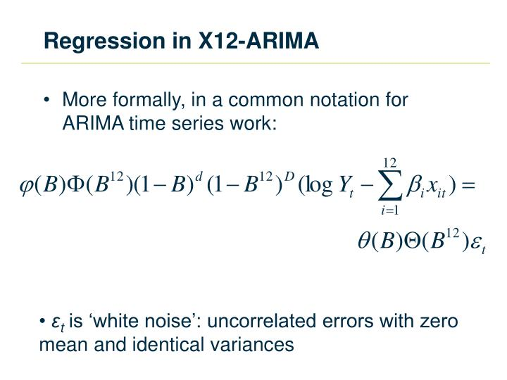 Regression in X12-ARIMA