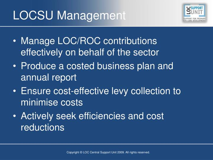 LOCSU Management