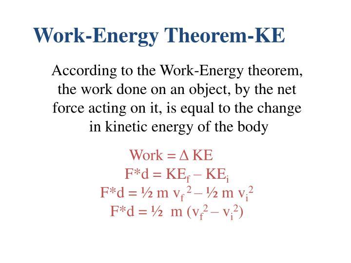 Work-Energy Theorem-KE