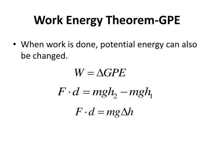 Work Energy Theorem-GPE