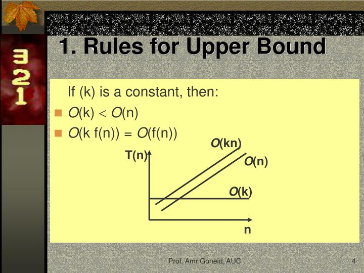1. Rules for Upper Bound