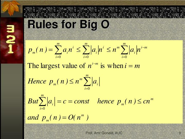 Rules for Big O