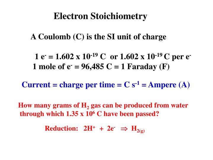 Electron Stoichiometry