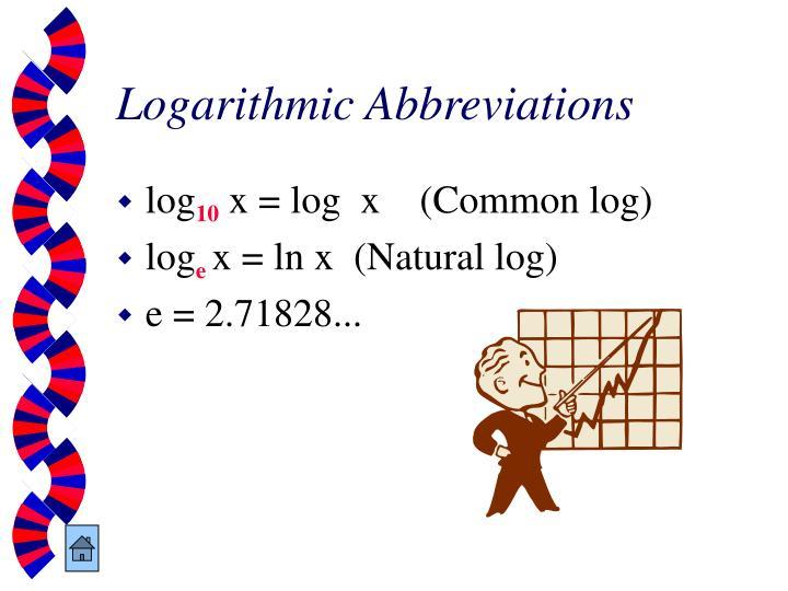 Logarithmic Abbreviations