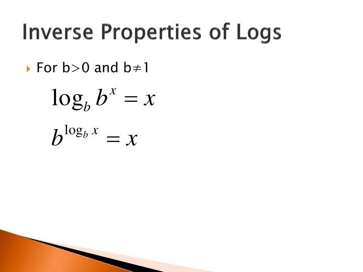 Inverse Properties of Logs