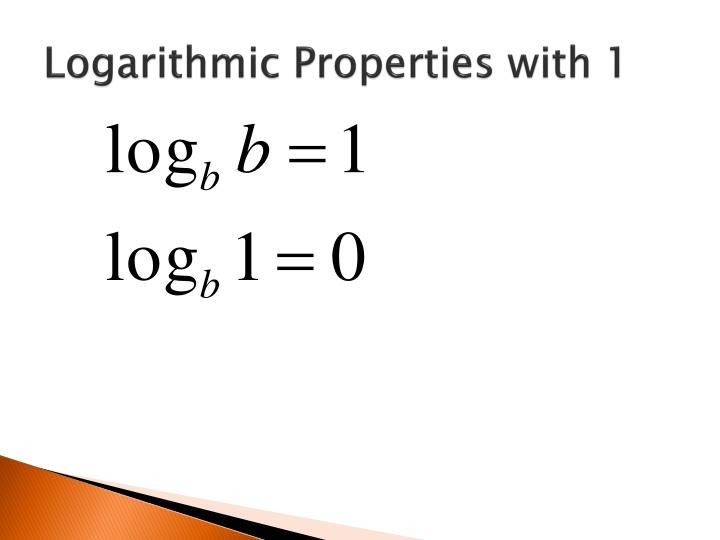 Logarithmic Properties with 1