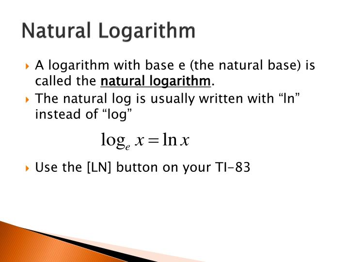 Natural Logarithm
