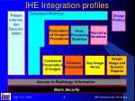 ihe integration profiles