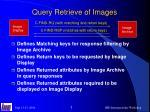 query retrieve of images