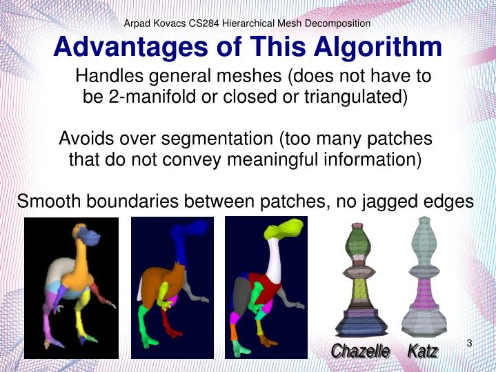 Advantages of this algorithm