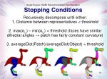 stopping conditions
