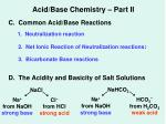 acid base chemistry part ii2