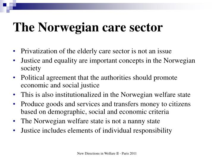 The Norwegian care sector
