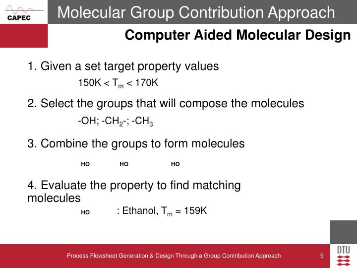 Molecular Group Contribution Approach