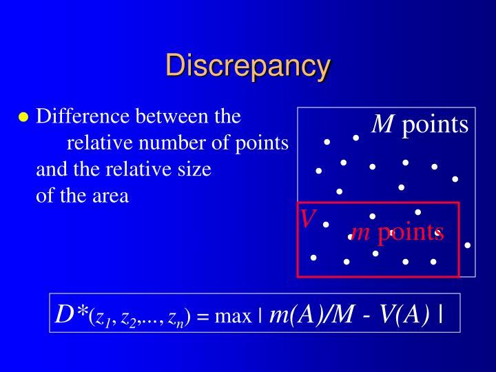 Discrepancy