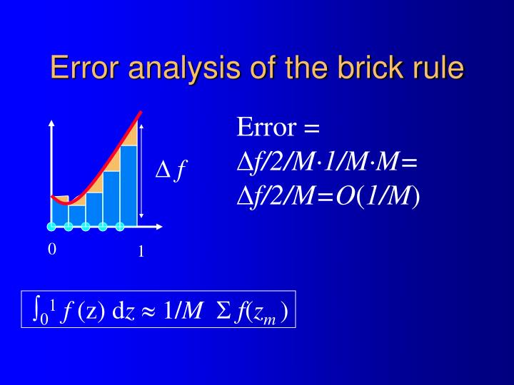 Error analysis of the brick rule