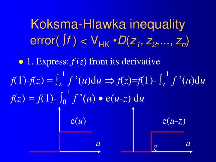 Koksma-Hlawka inequality