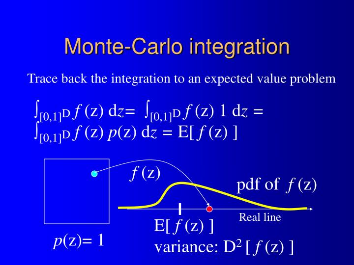Monte-Carlo integration
