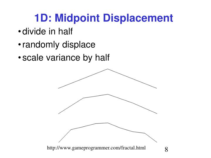 1D: Midpoint Displacement