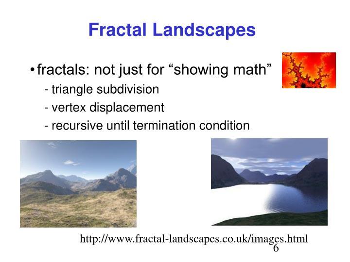Fractal Landscapes