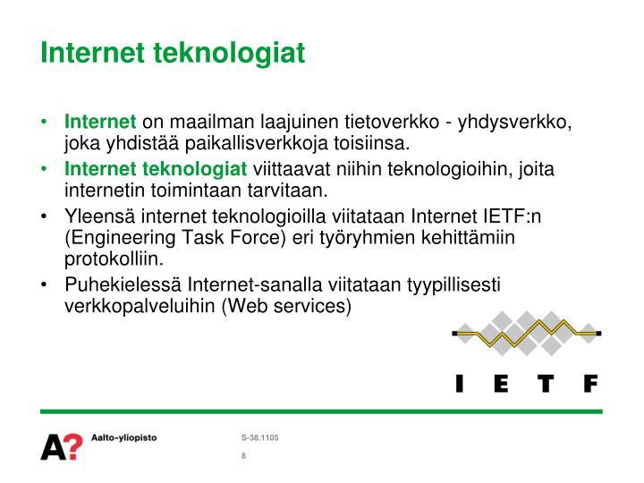 Internet teknologiat
