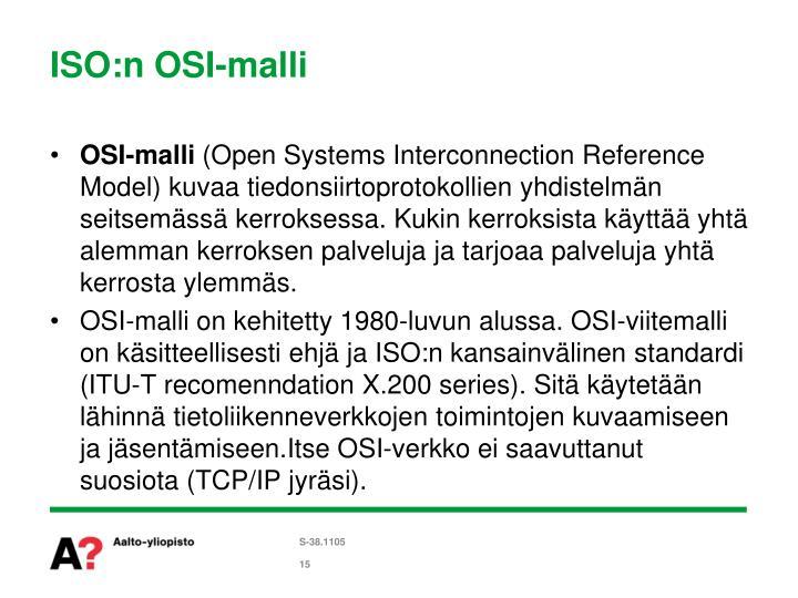 ISO:n OSI-malli