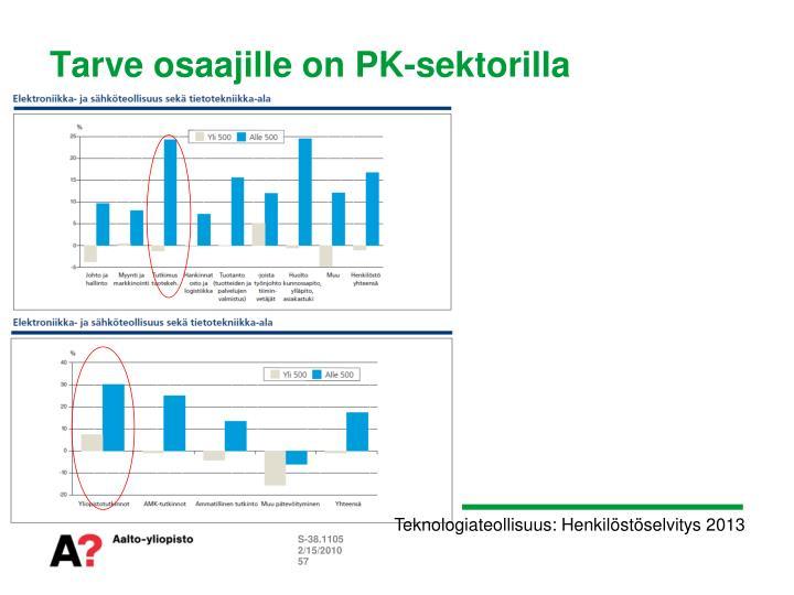 Tarve osaajille on PK-sektorilla