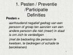 1 pesten preventie participatie definities