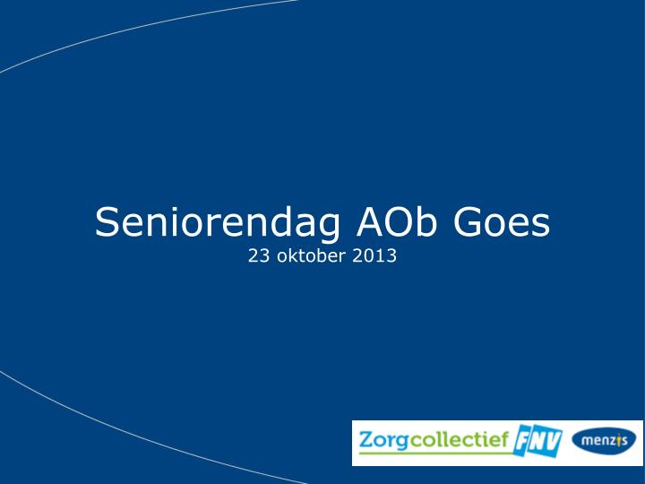 Seniorendag AOb Goes