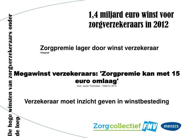 1,4 miljard euro winst voor