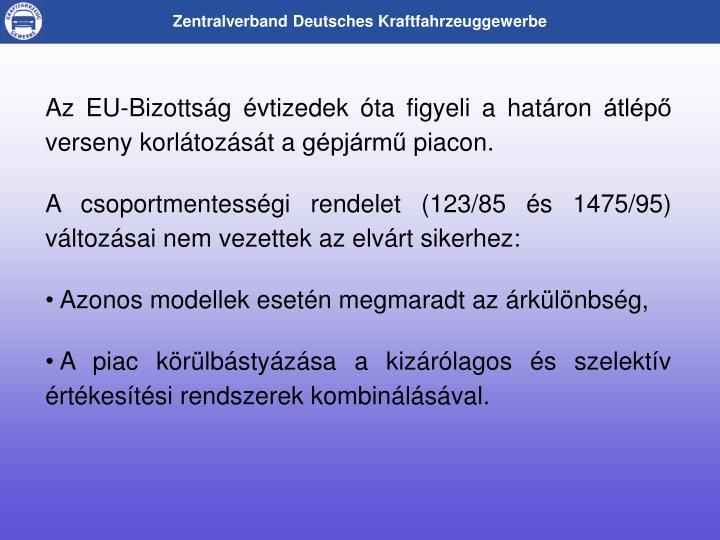 Az EU-Bizottsg vtizedek ta figyeli a hatron tlp verseny korltozst a gpjrm piacon