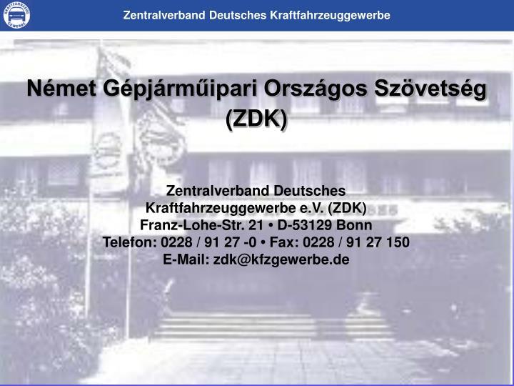 Német Gépjárműipari Országos Szövetség