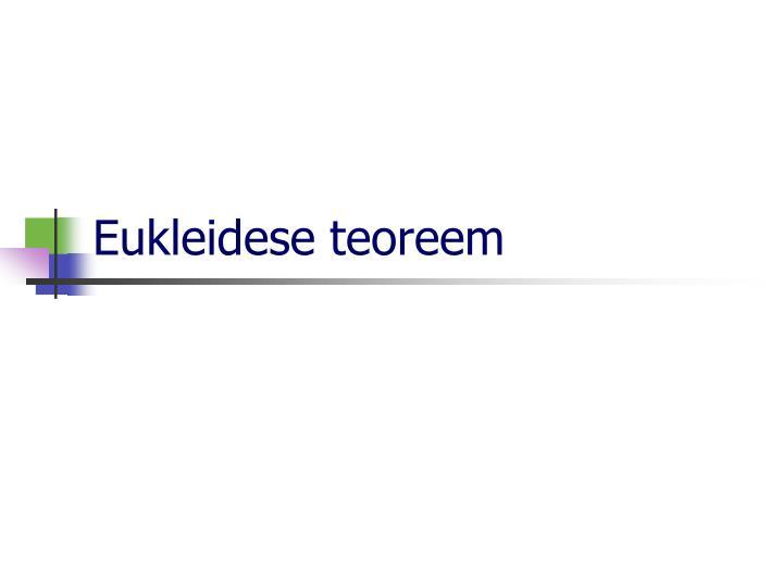 Eukleidese teoreem