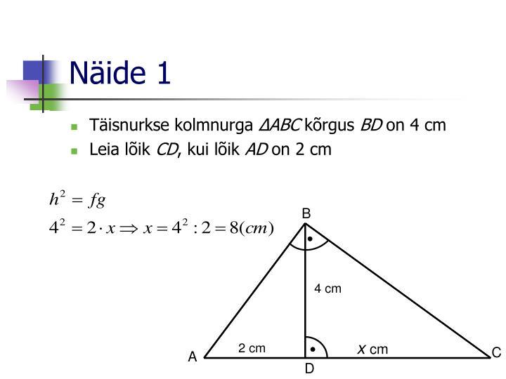 Näide 1