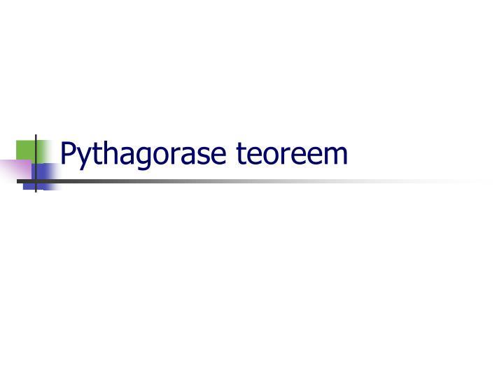 Pythagorase teoreem