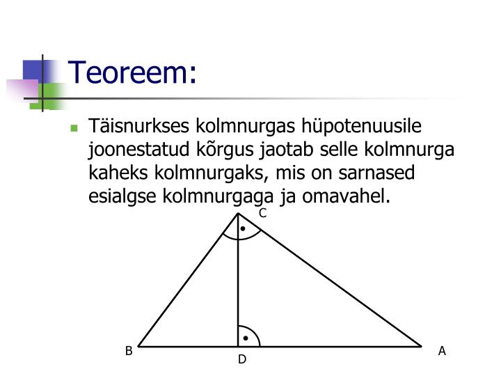 Teoreem: