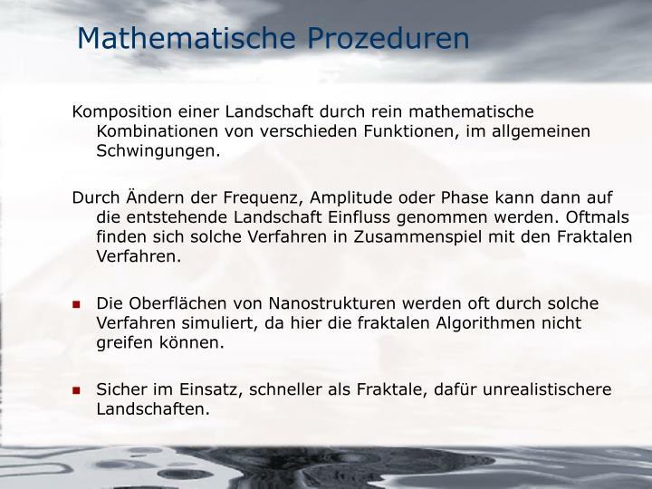 Mathematische Prozeduren