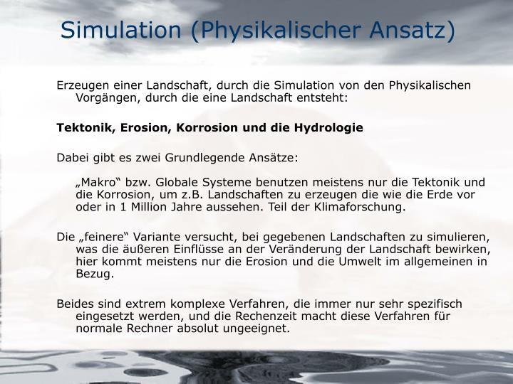 Simulation (Physikalischer Ansatz)