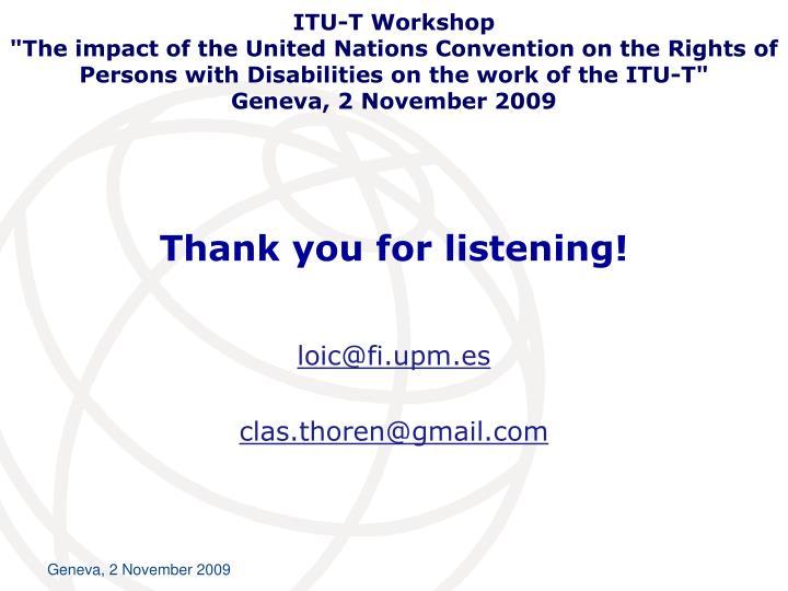 ITU-T Workshop