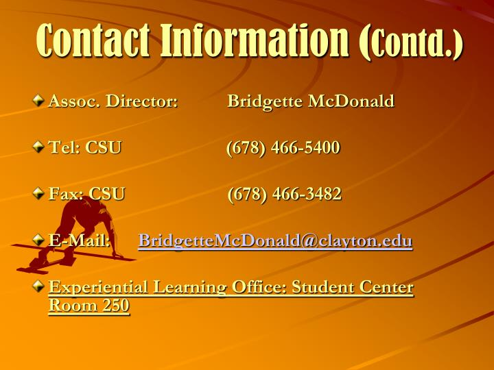 Contact Information (