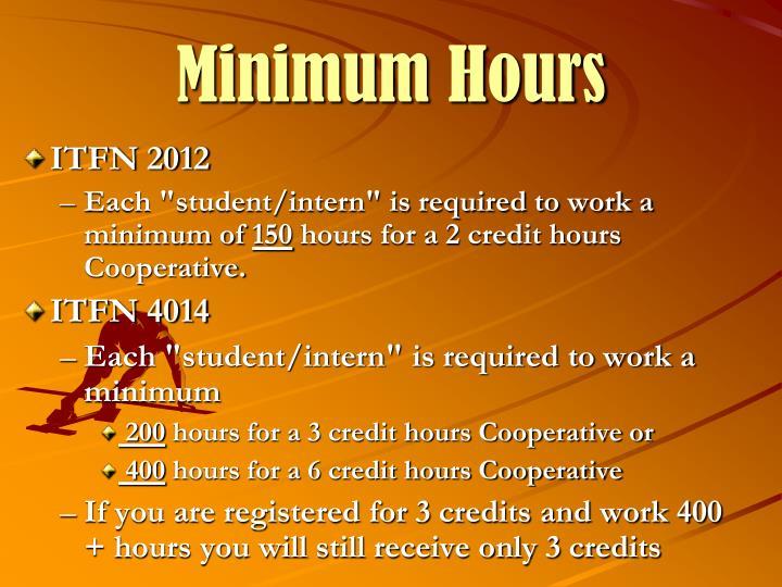 Minimum Hours