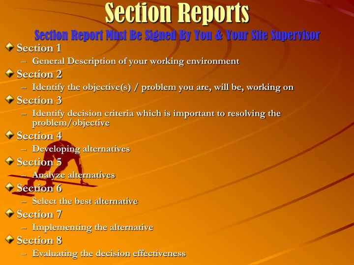 Section Reports